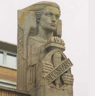 The winged victory is a sculpture above the chapel at our centre in Brighton.